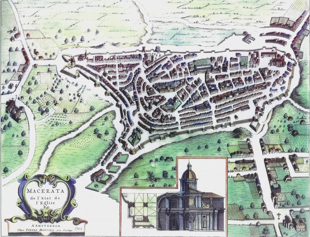 piantina macerata Felice Floriani 1618